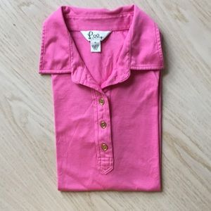 Lilly Pulitzer Pink Button Polo